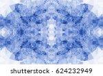 seamless kaleidoscope pattern.... | Shutterstock .eps vector #624232949