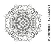 adult coloring page. mandala... | Shutterstock .eps vector #624233915