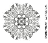 adult coloring page. mandala... | Shutterstock .eps vector #624233921