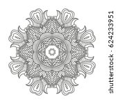 adult coloring page. mandala... | Shutterstock .eps vector #624233951
