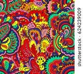 psychedelic plant vector... | Shutterstock .eps vector #624239009