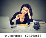 sedentary lifestyle and junk... | Shutterstock . vector #624240659