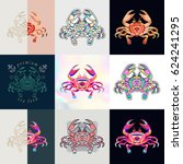 set of crab logos. abstract... | Shutterstock .eps vector #624241295