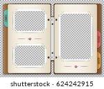 illustration of a photo album... | Shutterstock .eps vector #624242915