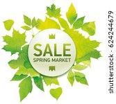 spring market  seasons sale ... | Shutterstock .eps vector #624244679