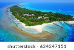 aerial view of tropical island... | Shutterstock . vector #624247151