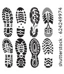 footprint sport shoes vector... | Shutterstock .eps vector #624249974