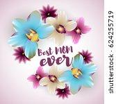 spring banner best mom ever.... | Shutterstock .eps vector #624255719