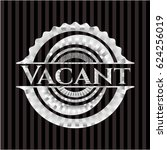 vacant silver badge or emblem | Shutterstock .eps vector #624256019