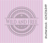 wild and free badge with pink... | Shutterstock .eps vector #624256349