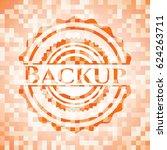 backup abstract orange mosaic... | Shutterstock .eps vector #624263711