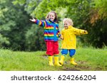little boy and girl play in... | Shutterstock . vector #624266204