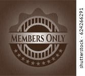 members only badge with wooden... | Shutterstock .eps vector #624266291