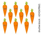 cute  funny and happy carrot... | Shutterstock .eps vector #624269861