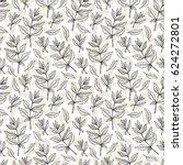 vector leaf. leaves seamless... | Shutterstock .eps vector #624272801