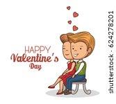 lovely couple valentines day   Shutterstock .eps vector #624278201