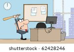 angry businessman with bat in... | Shutterstock .eps vector #62428246