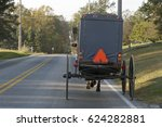 view of the back of an old... | Shutterstock . vector #624282881