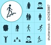 human icons set. collection of... | Shutterstock .eps vector #624282887