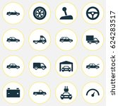 car icons set. collection of... | Shutterstock .eps vector #624283517