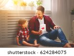 father's day. happy family... | Shutterstock . vector #624284075