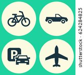 transport icons set. collection ... | Shutterstock .eps vector #624284825