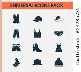 clothes icons set. collection... | Shutterstock .eps vector #624285785