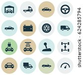 car icons set. collection of... | Shutterstock .eps vector #624285794