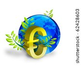 supremacy of the euro in the world - stock photo