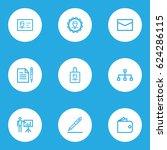 business outline icons set.... | Shutterstock .eps vector #624286115
