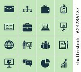 trade icons set. collection of... | Shutterstock .eps vector #624286187
