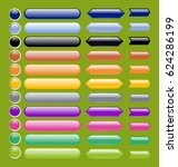 vector illustration of glossy... | Shutterstock .eps vector #624286199