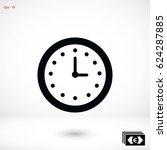wristwatch icon vector  flat... | Shutterstock .eps vector #624287885
