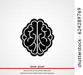 brain icon  vector eps 10... | Shutterstock .eps vector #624289769