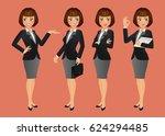 elegant people businesswoman | Shutterstock .eps vector #624294485