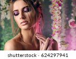 make up and cosmetics concept....   Shutterstock . vector #624297941