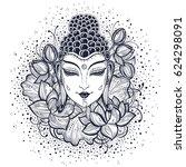 beautiful buddha face over high ...   Shutterstock .eps vector #624298091