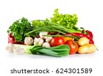 fresh healthy raw vegetables... | Shutterstock . vector #624301589