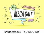 ribbon banner with text mega... | Shutterstock .eps vector #624302435