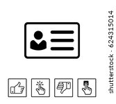 id card icon   Shutterstock .eps vector #624315014