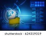 3d rendering file folders... | Shutterstock . vector #624319319