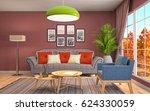 interior living room. 3d... | Shutterstock . vector #624330059