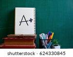 a plus grade mark | Shutterstock . vector #624330845