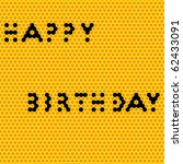 honey comb birthday card ... | Shutterstock . vector #62433091