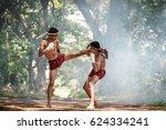 muay thai  thai martial arts ... | Shutterstock . vector #624334241