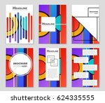 abstract vector layout... | Shutterstock .eps vector #624335555