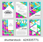 abstract vector layout...   Shutterstock .eps vector #624335771