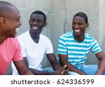 group of talking african... | Shutterstock . vector #624336599