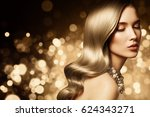 fashion portrait of young... | Shutterstock . vector #624343271