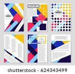 abstract vector layout... | Shutterstock .eps vector #624343499